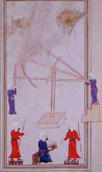 Drawing of Sextant in Use