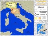 Map of the Italian Renaissance