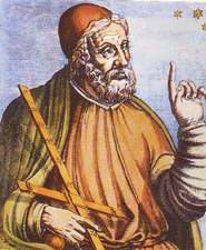 Medival ideal portrait of Ptolemy
