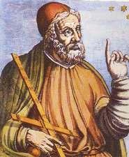 Medival ideal portrait of Ptolemy