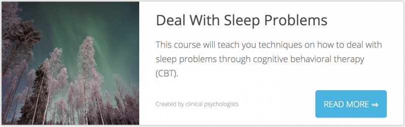 Deal With Sleep Problems