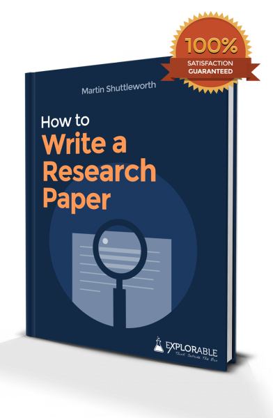 What is the percent of research paper is actual writing?